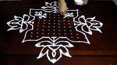Simple Flowers kolam designs with 19-1 straight | chukkala muggulu with ...