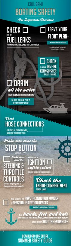 Gear up for the labor day weekend. This infographic design highlights the basic of getting your boat ready. #infographics #design #summer