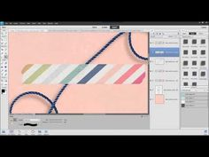 Create custom shadows for washi tape. Tutorial created in Photoshop Elements 11, but method will work in Photoshop and other versions of Photoshop Elements.