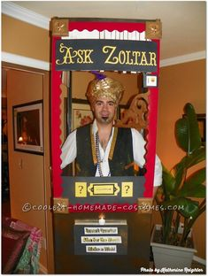 """Ask Zoltar"" Fortune Telling Machine Costume Idea... Coolest Halloween Costume Contest"