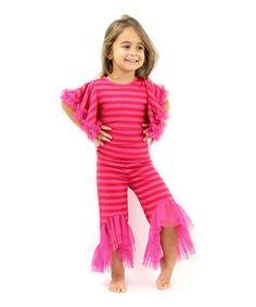 Fuchsia Top & Pants Set - Toddler & Girls #zulily #zulilyfinds
