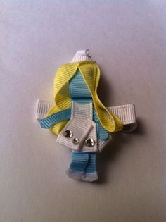 Hey, I found this really awesome Etsy listing at http://www.etsy.com/listing/80310404/smurfette-ribbon-sculpture-hair-clip