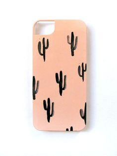 Cactus  -  watercolor iPhone 5/5s case - peach - dark green