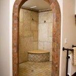 Trendy Bath Room Design Marble Walk In Shower Mediterranean Bathroom, Spanish Style Homes, Spanish Colonial, Walk In Shower, Bath Shower, Sauna Shower, Dream Shower, Shower Seat, Shower Door