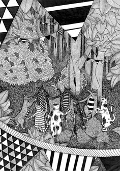 Strange and beautiful drawing - Anaëlle Clot