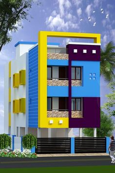 Top 30 Most Beautiful Houses Front Designs 2019 - Engineering Discoveries House Front Wall Design, House Balcony Design, House Outer Design, 3 Storey House Design, Single Floor House Design, House Outside Design, Duplex House Design, Unique House Design, Le Riad