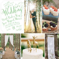 """#Wedding Inspiration featuring Evermine's """"Jubilation"""" Invitation Collection in spring green."""
