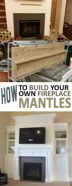 How to Build Your Own Fireplace Mantle