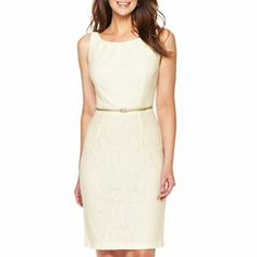 Sleeveless Lace Sheath Dress - jcpenney ($50)    Nice dress and crazy price!