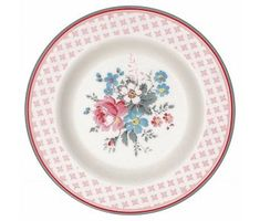 """GreenGate Kuchenteller """"Small plate Marie"""" pale grey D: 15 cm"""