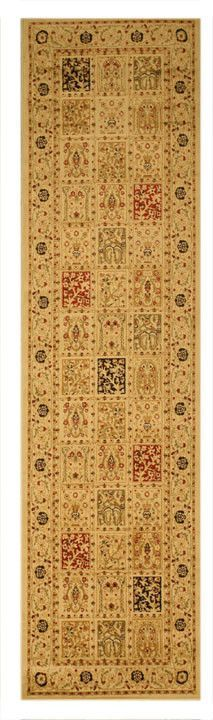 Ivory Traditional Oriental Magnificent Panel Tabriz Rug