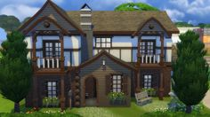 Sims 3 & Sims 4 Creations — Medieval Mansion Download this House Browse my...