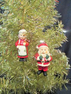 Santa Claus Christmas Ornament Vintage Santa by LuckyPennyTrading