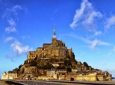 Mont Saint Michel Abbey on the western coast of France in Lower Normandy