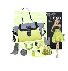 """Leather Handbag"" by phiveriversuk ❤ liked on Polyvore featuring Dune, Annelise Michelson, Topshop, Miss Selfridge, Casetify, South Lane, Kendra Scott and GUESS"