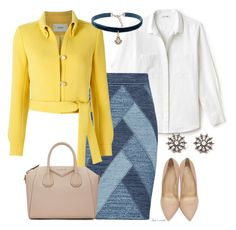 A fashion look from April 2017 featuring loose blouse, collar jacket and pencil skirts. Browse and shop related looks. Charlotte Olympia, Lacoste, Givenchy, Shoe Bag, Clothes For Women, Polyvore, Stuff To Buy, Outfits, Shopping