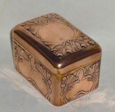 Art Nouveau copper box, manufactured by Carl Deffner, Esslingen, Germany