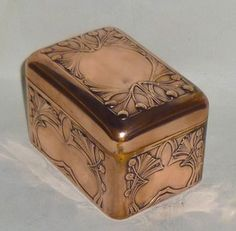 Art Nouveau copper box, manufactured by Carl Deffner, Esslingen, Germany