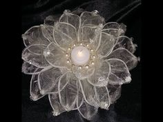 DIY WEDDING DECORATIONS - ORGANZA GIANT FLOWER - TABLE CENTER PIECE, My Crafts and DIY Projects