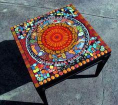 Broken fiestaware table
