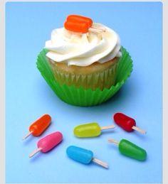 Iceblock cupcakes