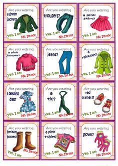 Glothes Go fish Game - English ESL Worksheets English Worksheets For Kids, English Games, English Lessons For Kids, English Activities, French Lessons, Spanish Lessons, Teaching Vocabulary, Teaching Jobs, English Vocabulary