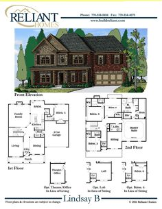 Reliant Homes | The Lindsay B Plan | Floor Plans | Homes | Homes for Sale | Dream Home