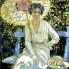 John Hubbard Rich (American artist, 1876–1954) Mabel in the Garden