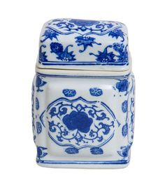 Blue and White Tea Jar Blue And White China, Love Blue, Blue China, Tea Jar, Tea Tins, White Dishes, Tea Caddy, My Cup Of Tea, Blue Bonnets