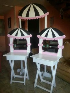 Decoracion cumpleano Candy Cart, Cake And Cupcake Stand, Flower Cart, Craft Fair Displays, Candy Dispenser, Kids Party Decorations, Pop Up Shops, Baby Decor, Diy And Crafts