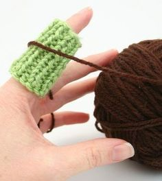 Knitting pattern for Finger Guard - Knit longer in comfort! This ingenious ribbed guard fits comfortably on your finger to protect from yarn rubbing when you're knitting for long hours