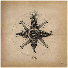 Compas tattoo sketch