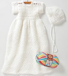 Free crochet Christening Gown pattern for baby