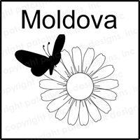 Moldova Rubber Stamp