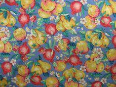 Algodón acolchados tela frutas tela Granada tela por TheFabricScore