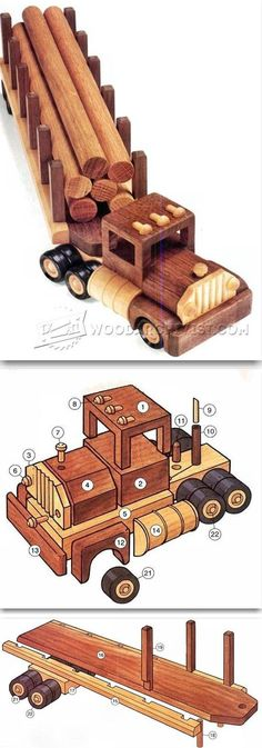 Wooden Logging Truck Plans - Wooden Toy Plans and Projects | WoodArchivist.com