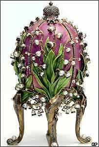 Fabergé eggs are jewelled eggs made in Russia. The first egg was made by royal jeweller, Carl Fabergé, as an Easter gift for the wife of the Tsar of Russia.