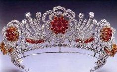 Burmese ruby tiara of HM The Queen