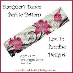 Peyote Bracelet Pattern Stargazer's Dance (Buy 2 get 1 Free) | LostInParadise - Patterns on ArtFire