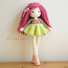 Crochet Doll 16-17 long Ready to ship. by LinaMarieDolls on Etsy