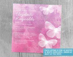 Cute Butterflies Bridal Shower Invitations