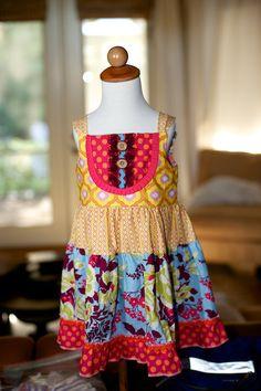 Kailey Dress (sizes 18m, 2T,3T,4T & 6). $58.00, via Etsy.
