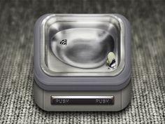 Drinking Fountain App Icon | Illustrator: Ben Sperry