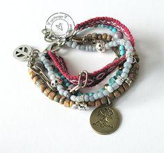 Bohemian hippie friendship gypsy bracelet of by LeiDesign on Etsy, $36.95