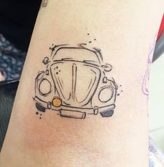Vw Tattoo, Beetle Tattoo, Car Tattoos, Tatoos, Beetle Car, Even Skin Tone, Tattoos Gallery, Volkswagen, Vw Beetles