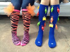 Crazy Socks Day! Cute...zebra print and tulle.
