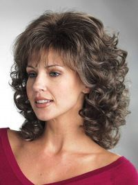 Cheapest Brown Curly Shoulder Length Classic Wigs, Real Hair Wigs Classic Bobs hair styles for thick hair bob shoulder length Curly Hair With Bangs, Short Curly Hair, Wavy Hair, Short Hair Cuts, Thick Hair, Permed Hairstyles, Hairstyles With Bangs, Easy Hairstyles, Hairstyles Videos