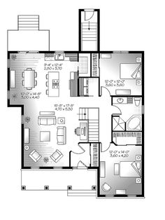 1000 images about floor plans on pinterest metal homes for Open concept floor plans 1 story