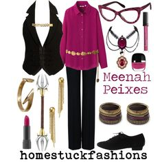 """Meenah Peixes"" by hollowzo on Polyvore"