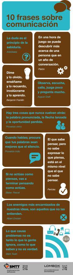 10 frases célebres sobre comunicación #infografia #infographic #citas